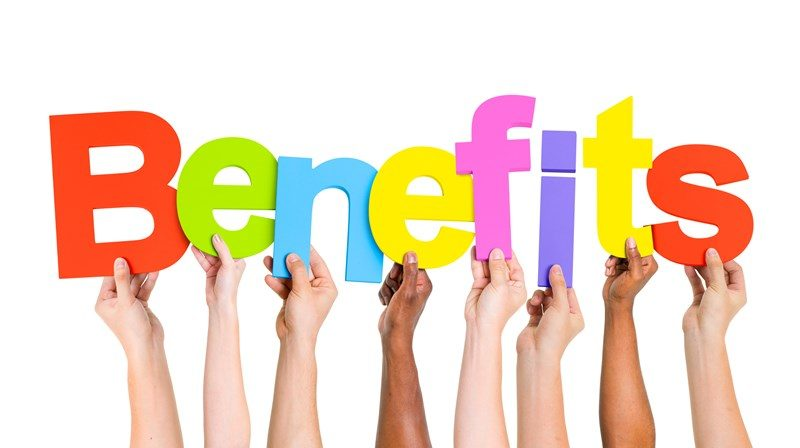Benefits provided by someone other than their employer