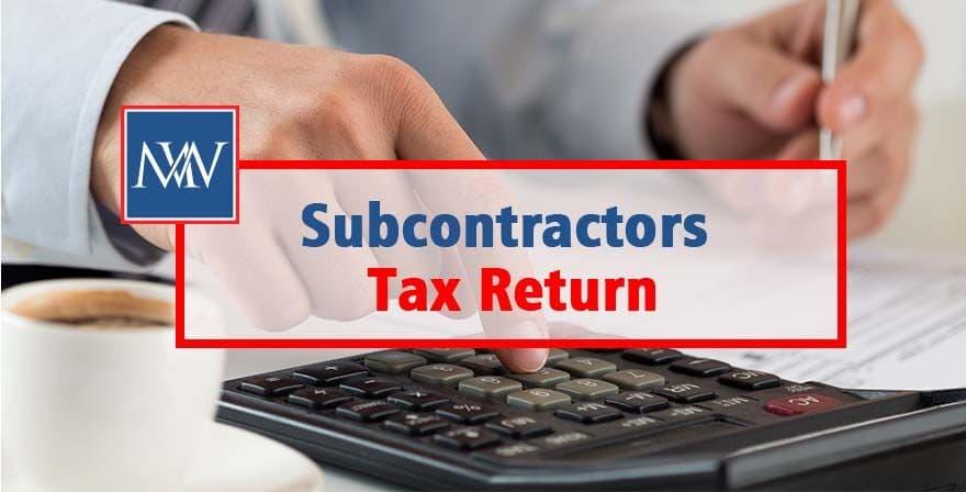 Subcontractors Tax Return