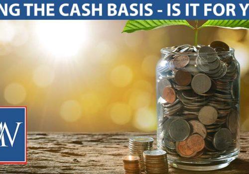 using the cash basis