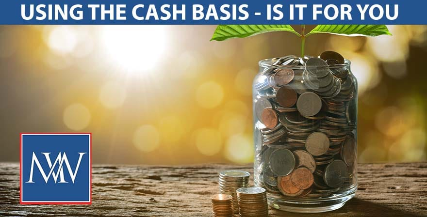 using the cash basis