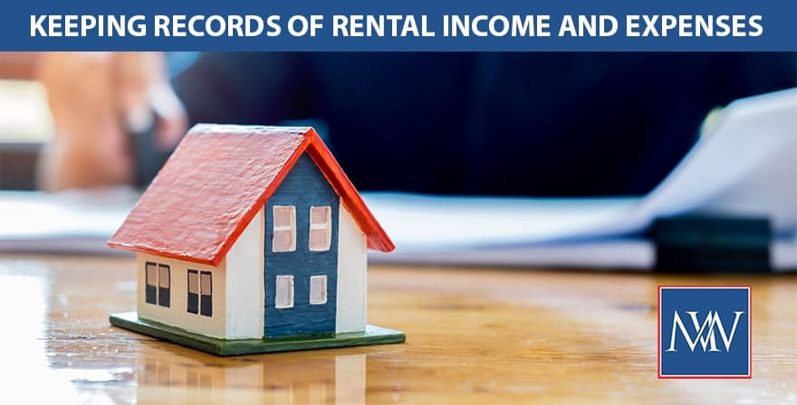 Keeping records of rental income and expenses