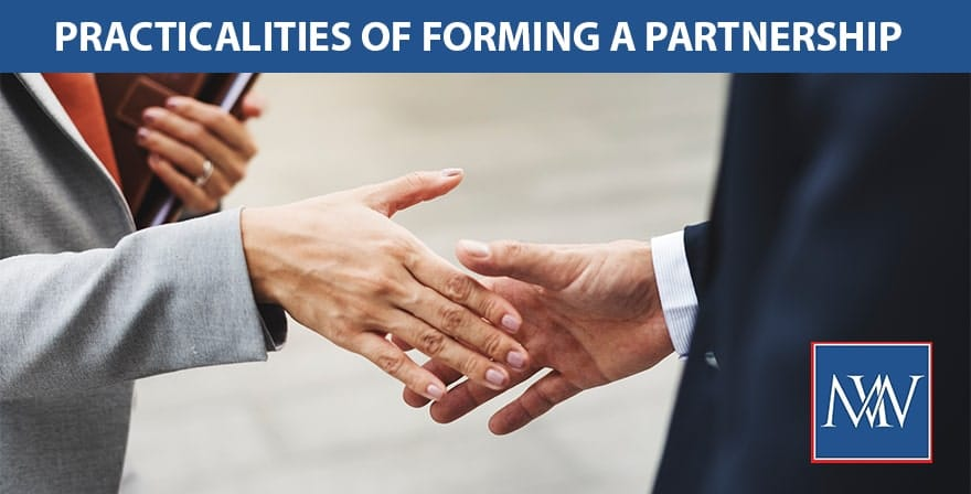 Practicalities of forming a partnership