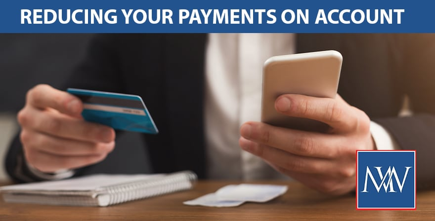 REDUCING YOUR PAYMENT ON ACCOUNT