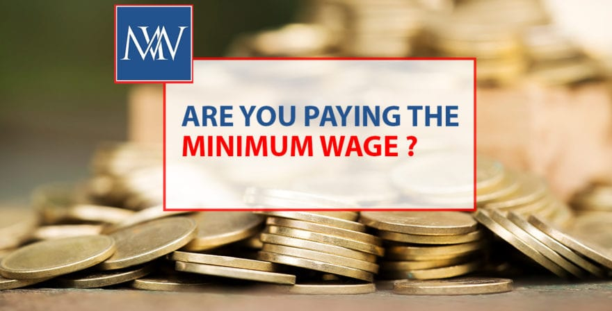 Are you paying the minimum wage
