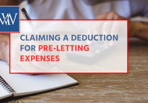 claiming a deduction for preletting -min