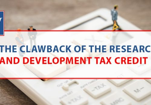 The clawback of the research and development tax credit