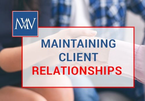 maintaining client relationships