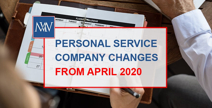 personal service company changes from april 2020