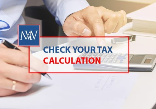 Check your tax calculation