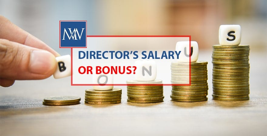 Director's salary or bonus