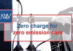 Zero charge for zero emission cars