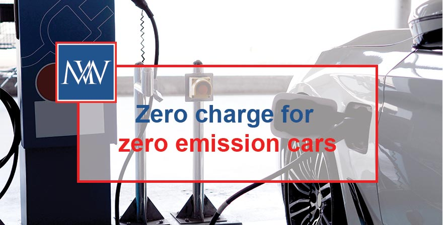 Zero charge for zero emission cars