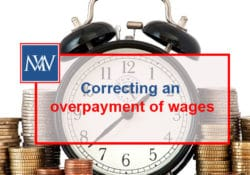 Correcting an overpayment of wages