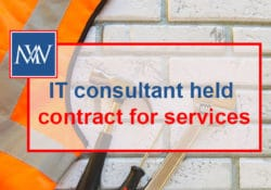 IT consultant held contract for services