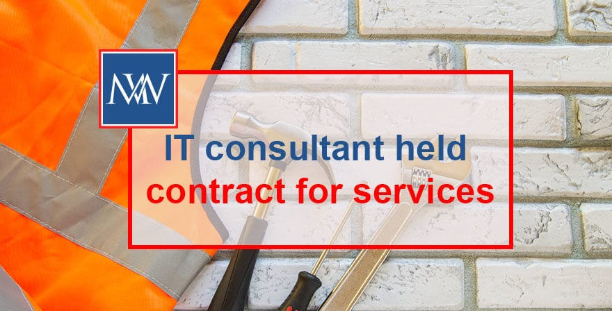 IT consultant contract for services