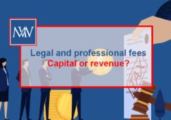 Legal and professional fees – Capital or revenue?