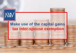 Make use of the capital gains tax inter-spouse exemption