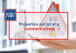 Properties not let at a commercial rent