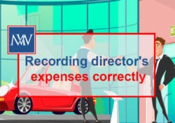 Recording director's expenses correctly