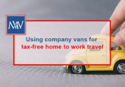 Using company vans for tax-free home to work travel