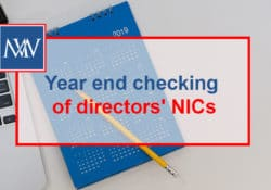 Year end checking of directors' NICs