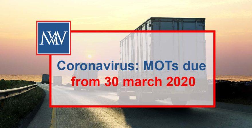 Coronavirus: MOTs due from 30 march 2020