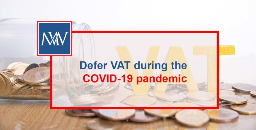 Defer VAT during the COVID-19 pandemic