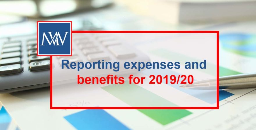Reporting expenses and benefits for 2019/20