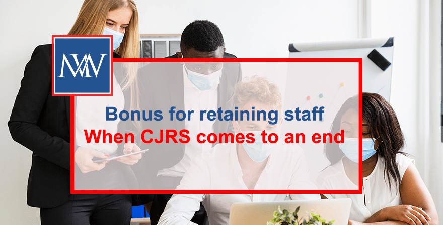 Bonus for retaining staff when CJRS comes to an end