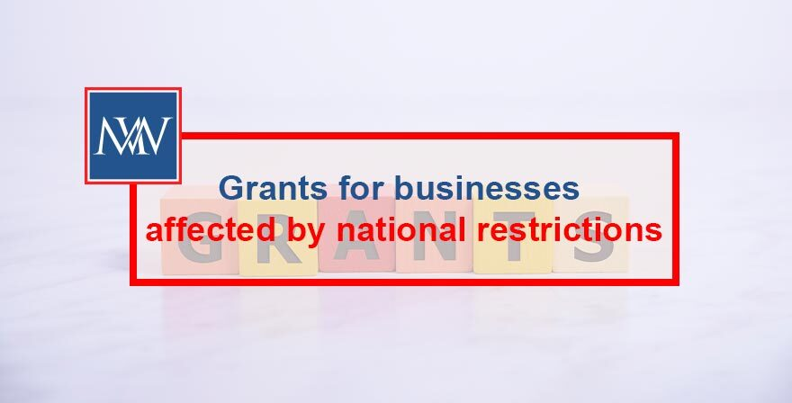 Grants for businesses affected by national restrictions