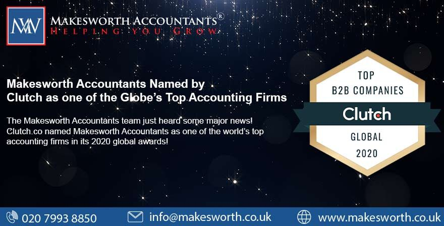 Makesworth Accountants Named by Clutch as one of the Globe's Top Accounting Firms