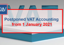 Postponed VAT accounting from 1 January 2021