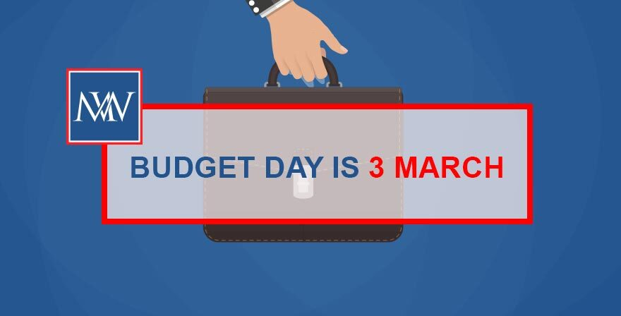 Budget Day is 3 March
