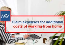 Claim expenses for additional costs of working from home