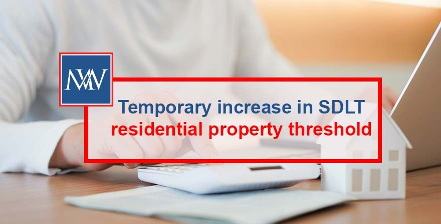 Temporary increase in SDLT residential property threshold