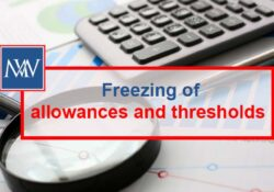 Freezing of allowances and thresholds