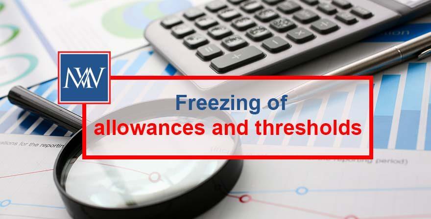Freezing of allowances and thresholds