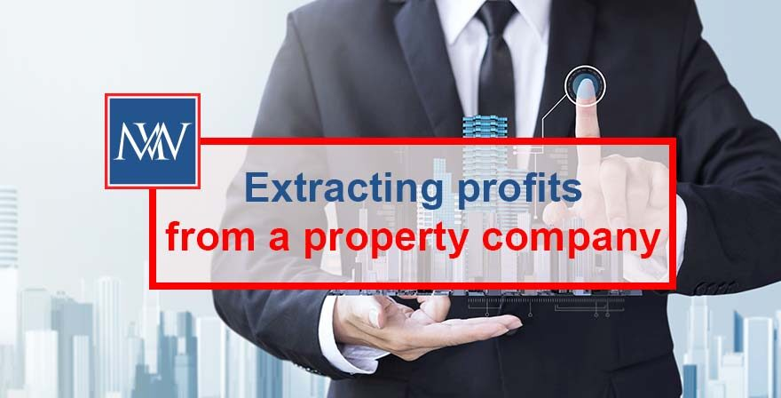 Extracting profits from a property company