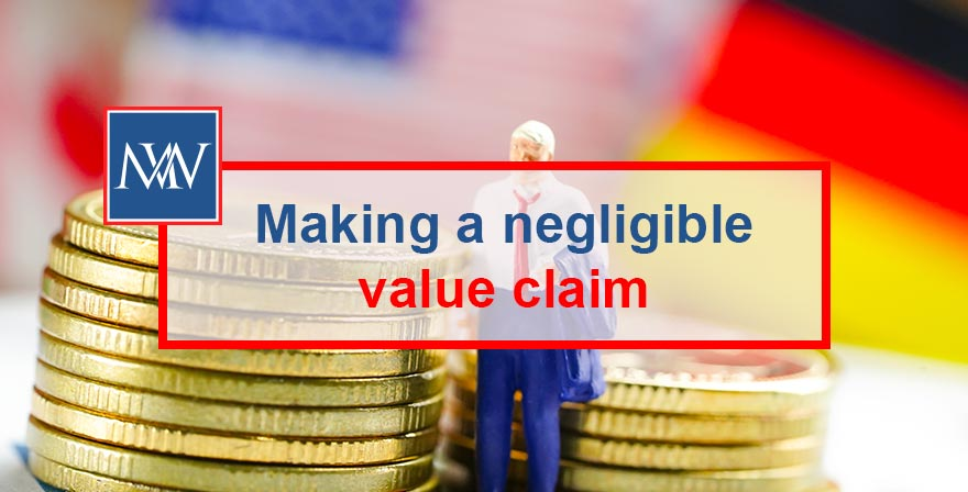 Making a negligible value claim