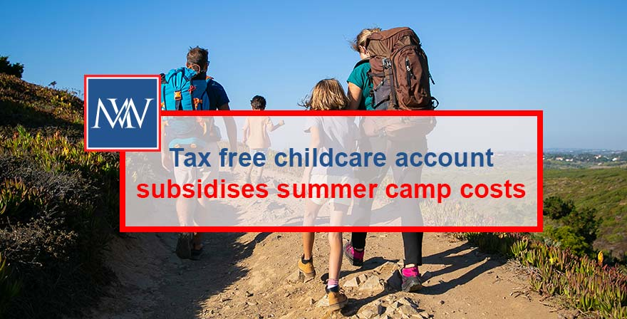 Tax free childcare account subsidises summer camp costs