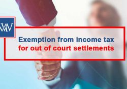 Exemption from Income Tax for out of court settlements