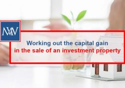 Working out the capital in the sale of an investment property